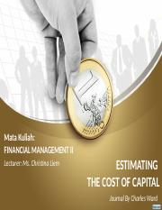 PPT1-Estimating the cost of capital-By Charles Ward Journal.pptx