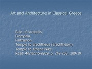 Architecture and Classical Athens