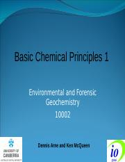 Basic Chemical Principles 1