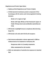 Staphylococcal Protein Spas Notes
