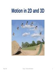 31N 3.0 -- Motion in 2 or 3D