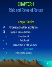 ch-4 Risk and return-Latest
