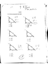 sides and angles of a triangle exam
