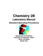2b student lab manual winter 2017 v02 pdf chemistry 2b laboratory rh coursehero com UC Davis Laboratory Services UC Davis DNA Testing