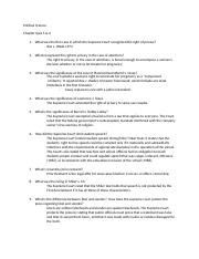 PSC Chapter 5 and 6 Worksheet