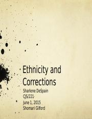 Ethnicity and Corrections