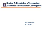 Session 5 - Class Notes - Regulation of Accounting Standards II0