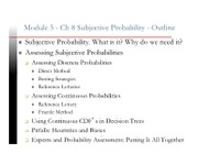 Ch 8 Subjective Probability