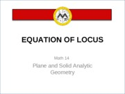 L4 Equation of Locus