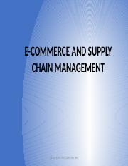 5. ECommerce and suply chain mngt