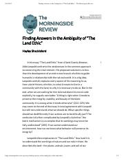 "Finding Answers in the Ambiguity of ""The Land Ethic"" – The Morningside Review.pdf"