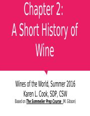 Chapter 02 History of Wine 062116