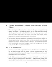 private information notes