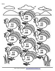 subtraction on turkeys