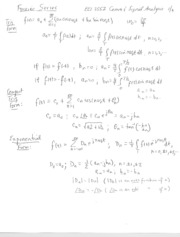 Fourier Series Coefficient Relationships, Parseval's Power Theorem