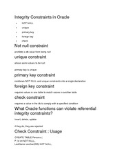 Constraints Notes