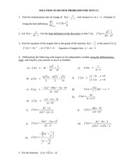 Solution to Practice Problems for Term Test 2