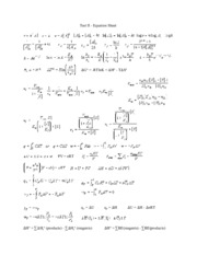 Test II Equation Sheet