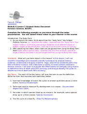 FS Module 8 Lesson 2 Forensic Entomology Guided Notes- Tierra R. George.doc