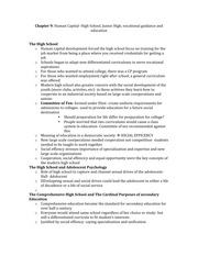 School and Society Ch9 Notes