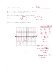 Math 125 Quiz 3 Key On Intermediate Algebra