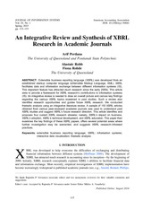An integrative review and synthesis of XBRL research in academic journals