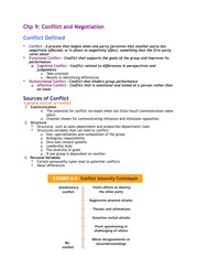 Chapter 9 - Conflict and Negotiation