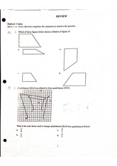 Review Algebra 3rd Test Multiple Choice + Answer Key