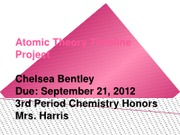 Chelsea's Atomic Theory Timeline Project