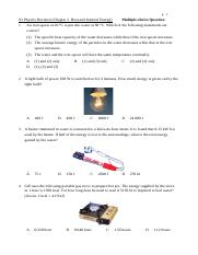 S3 Heat and Internal Energy MC Questions