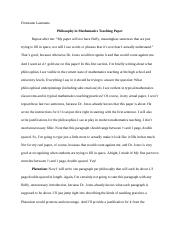 Example paper layout philosophy in teaching