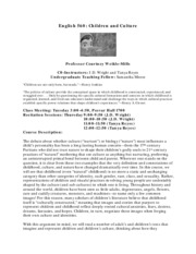 children and culture 560 syllabus