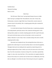 Black Swan Eating Disorders Paper