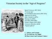 Victorian Society in the -Age of Progress-