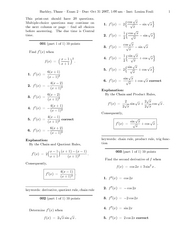 Calculus 408K Exam 2
