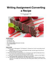 Writing Assignment-Converting a Recipe.pdf