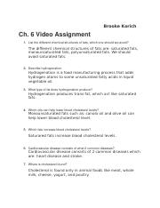 Chapter 6 Assignment