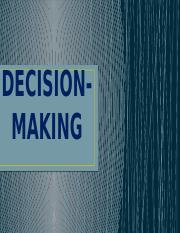 Decision Making as a management responsibilities.pptx