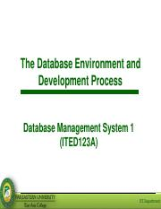Lesson 1 - The Database Environment and Development Process.pdf