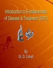 Introduction to Fundamentals of Disease  Treatment 2016