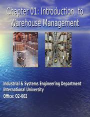Chapter 01-Warehouse Management - 2016 ppt - Chapter 01 Introduction