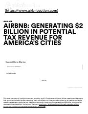 Airbnb Action Airbnb_ Generating $2 Billion in Potential Tax Revenue for America's Cities - Airbnb A