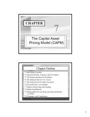 Chapter 07 - CAPM