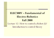 12 - How to Control a Robot (I) - Introduction to Control Theory