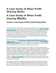 A Case Study of When Profit Sharing Works.docx