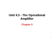 Chapter 5 - The Operational Amplifier