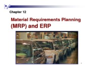 Lec12-MRP and ERP