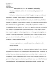 case study 12.1 the problems of multitasking