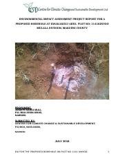 ENVIRONMENTAL IMPACT ASSESSMENT PROJECT REPORT FOR A PROPOSED BOREHOLE AT KWAKAKULU AREA  PLOT NO.do