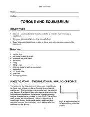Lab Torque And Equilibrium